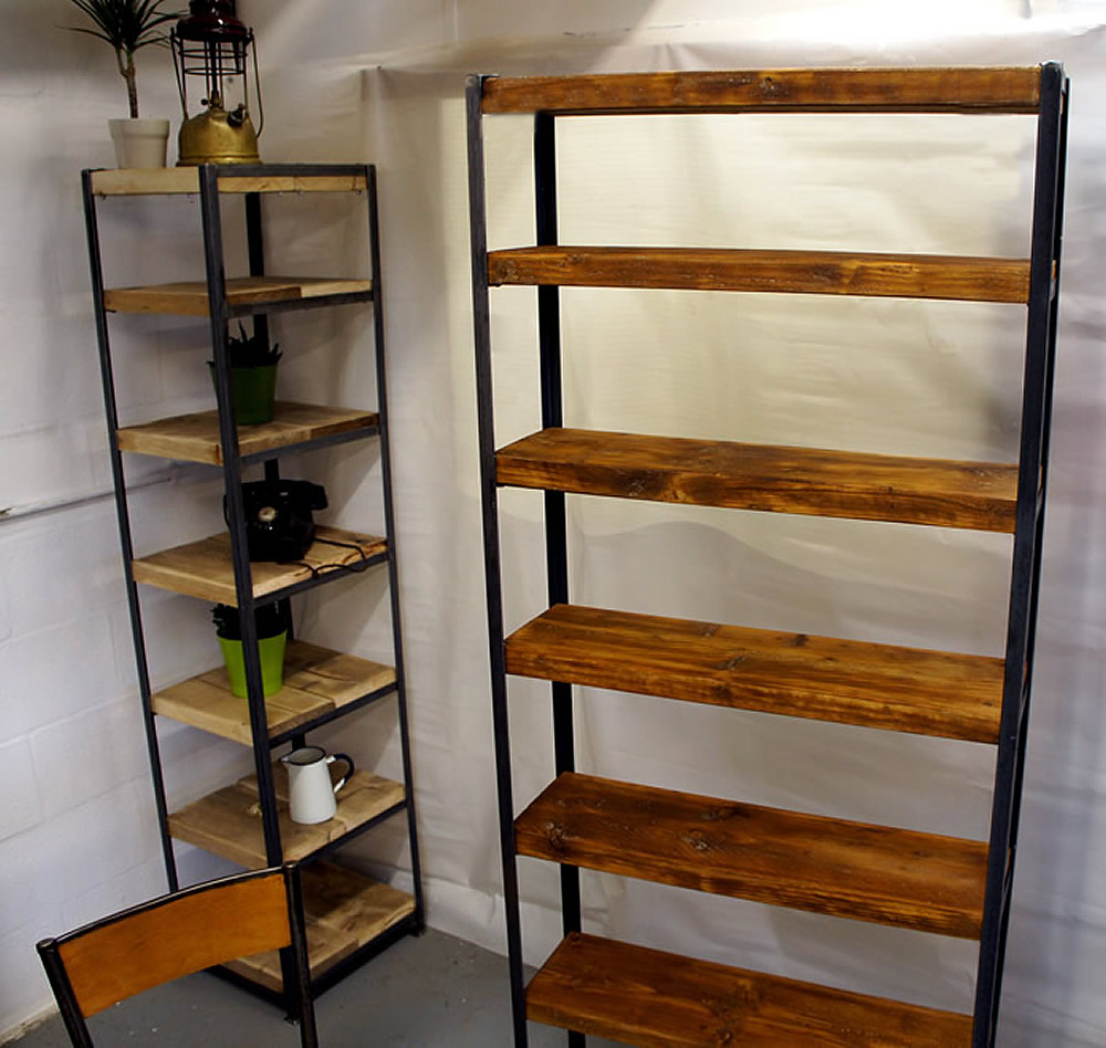Tall Vintage Industrial Shelves