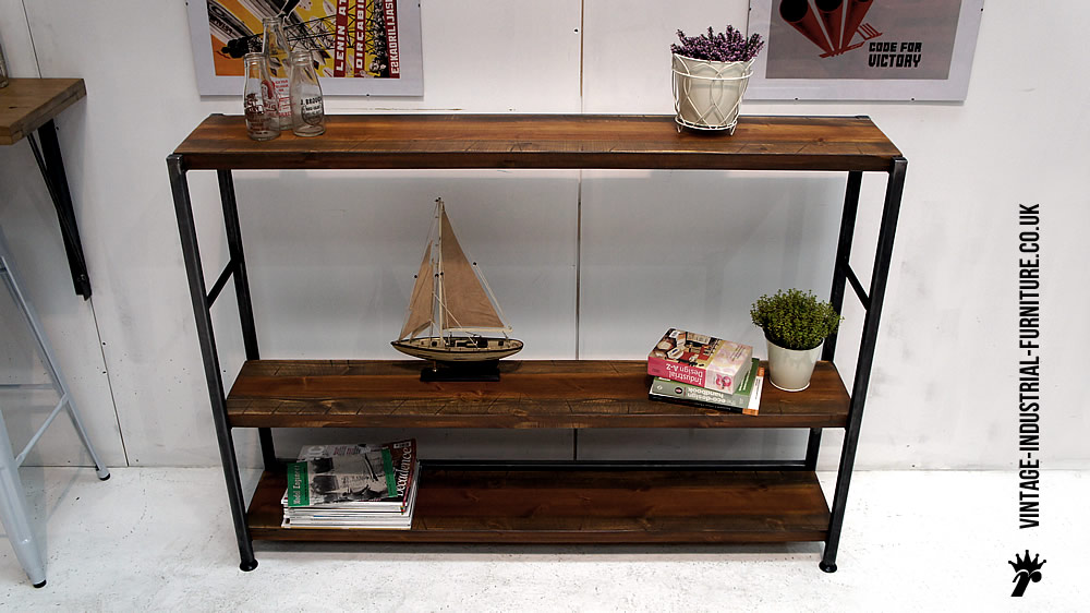 vintage industrial shelving. Black Bedroom Furniture Sets. Home Design Ideas