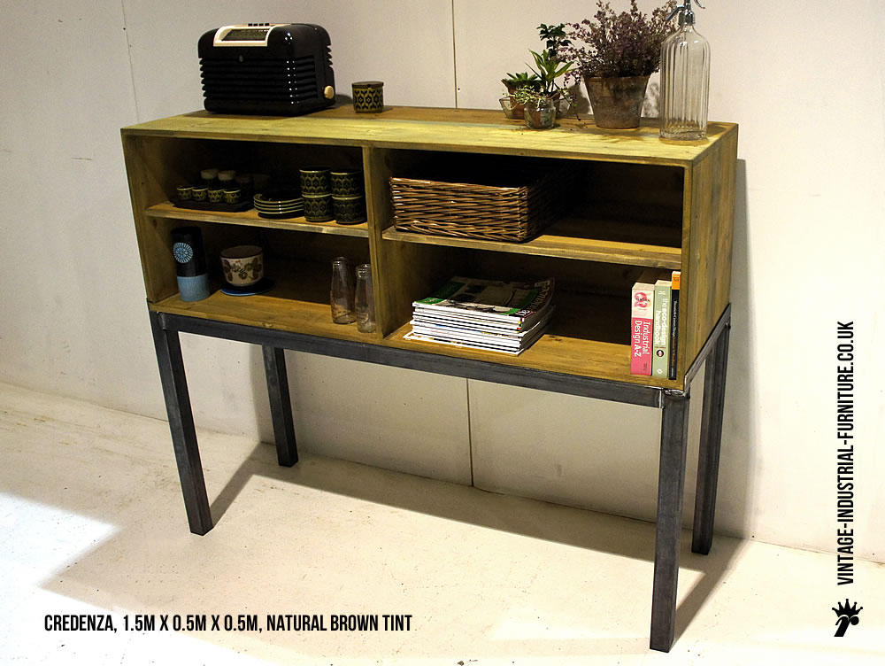 vintage industrial credenza. Black Bedroom Furniture Sets. Home Design Ideas