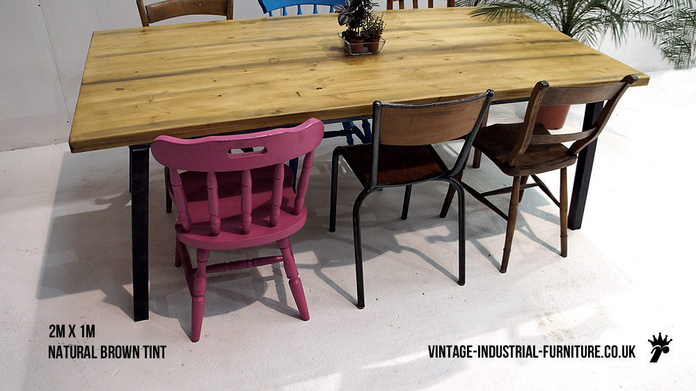 Vintage Industrial Dining Table : angledmetallegdiningtable from vintage-industrial-furniture.co.uk size 1000 x 562 jpeg 117kB