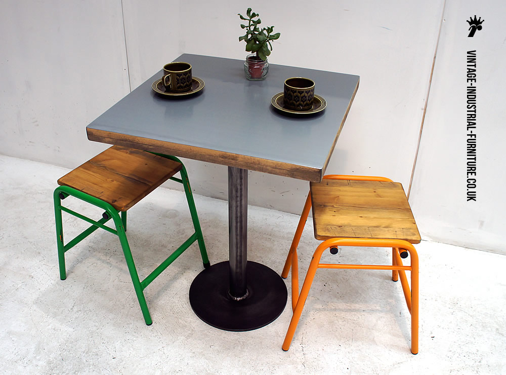 Zinc Top Bistro Table : industrialroundbasebistrotable from vintage-industrial-furniture.co.uk size 1000 x 740 jpeg 138kB