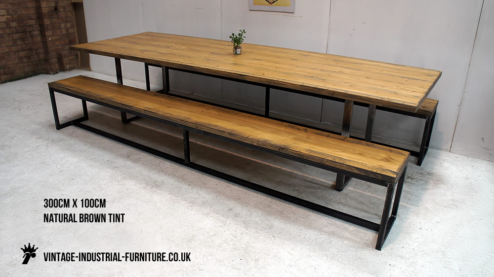 Dining Table Industrial Bench Loop Leg