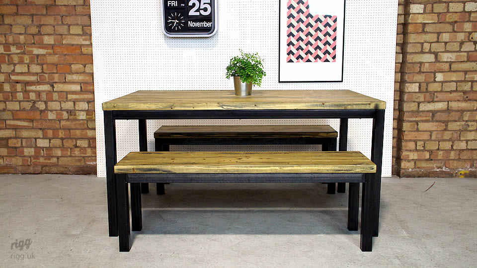 Table And Bench Set : Refectory Table and Bench Set