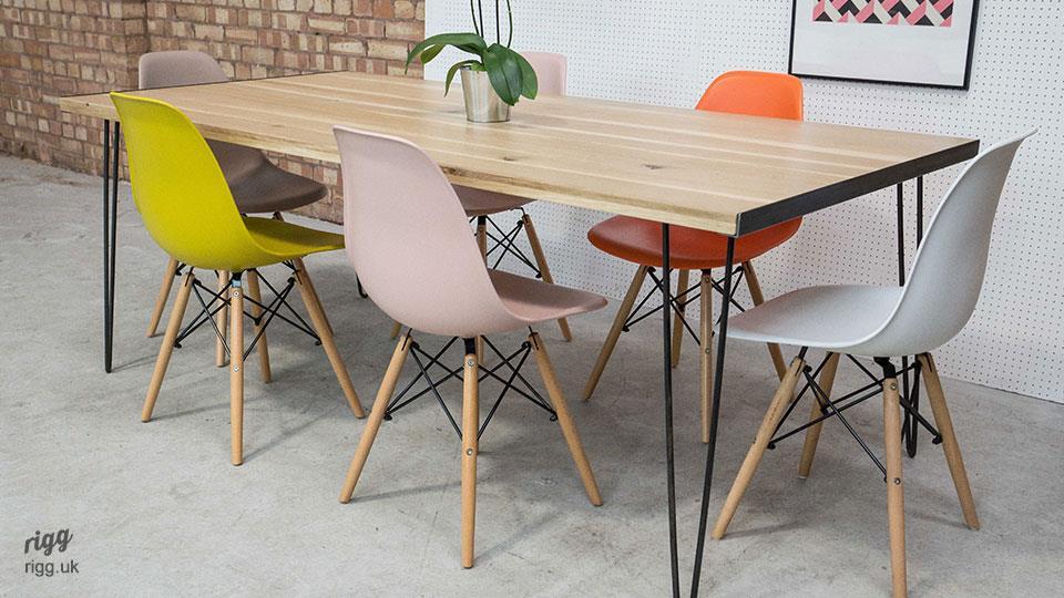 Hairpin Leg Dining Table : woodandmetalhairpinlegtable from vintage-industrial-furniture.co.uk size 960 x 540 jpeg 95kB