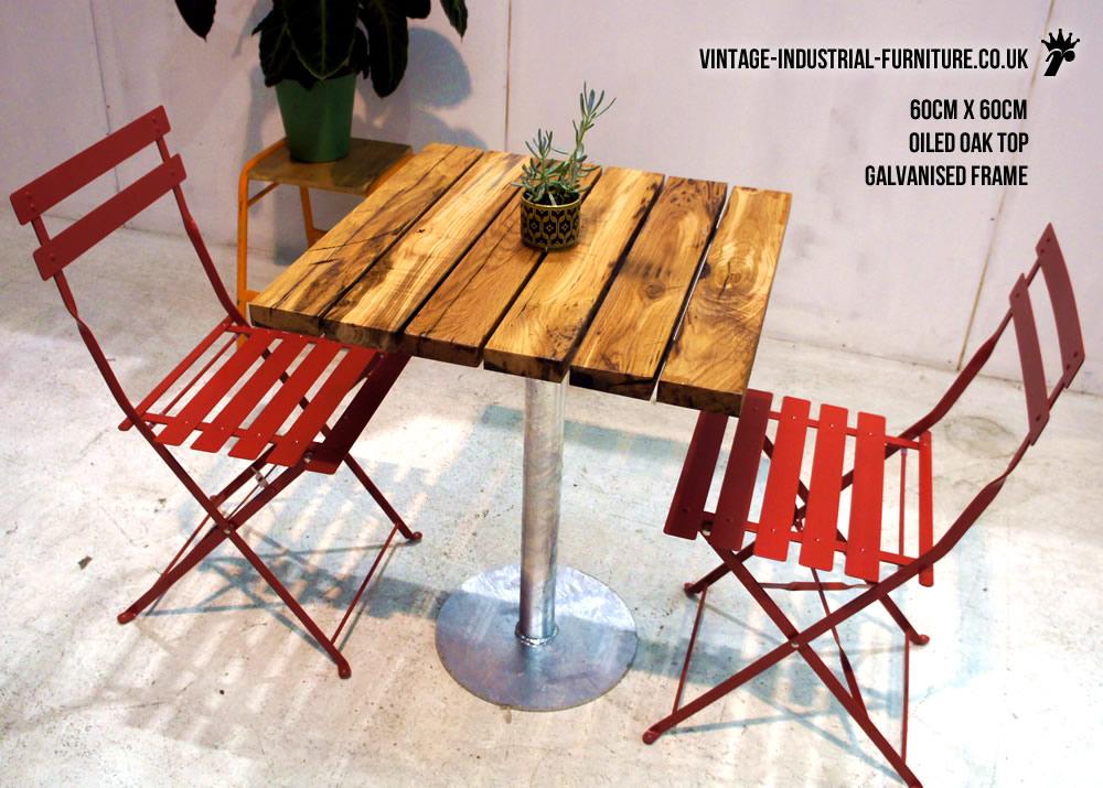 industrial outdoor bistro table. Black Bedroom Furniture Sets. Home Design Ideas