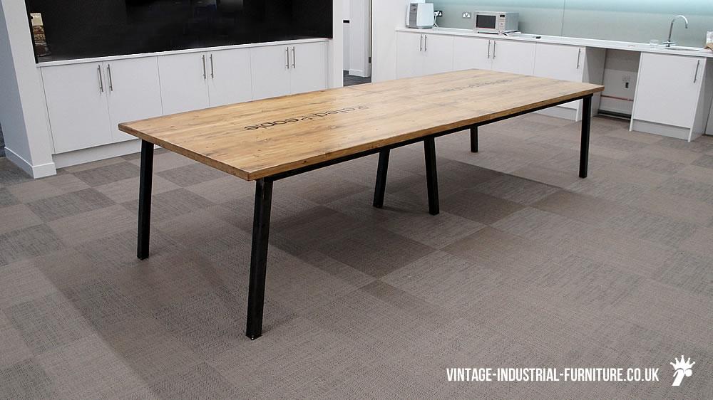 vintage industrial office table. Black Bedroom Furniture Sets. Home Design Ideas