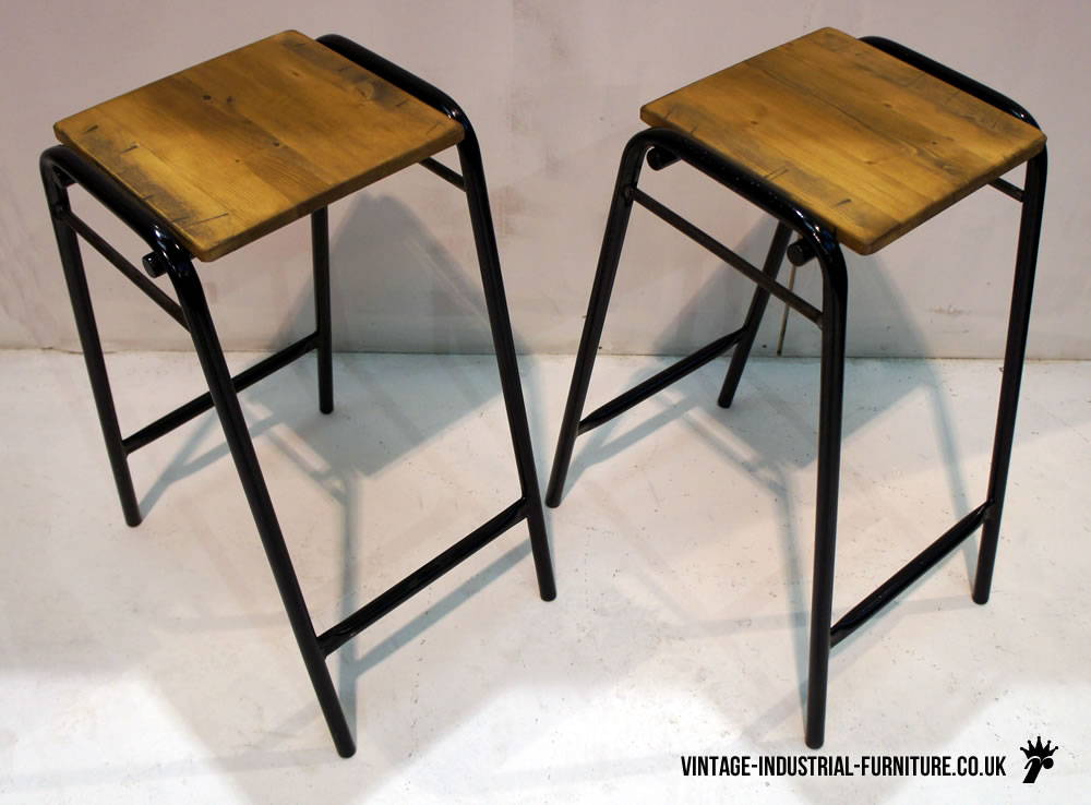 vintage school lab stool. Black Bedroom Furniture Sets. Home Design Ideas