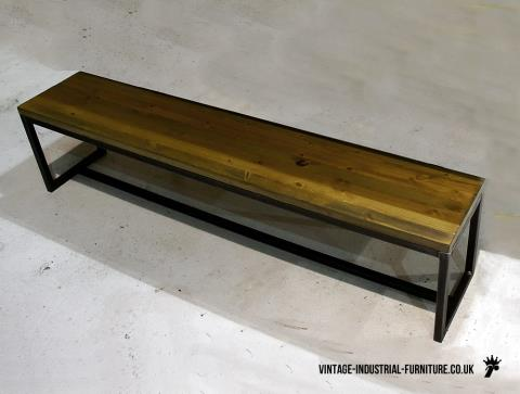Vintage Industrial Grafik Bench