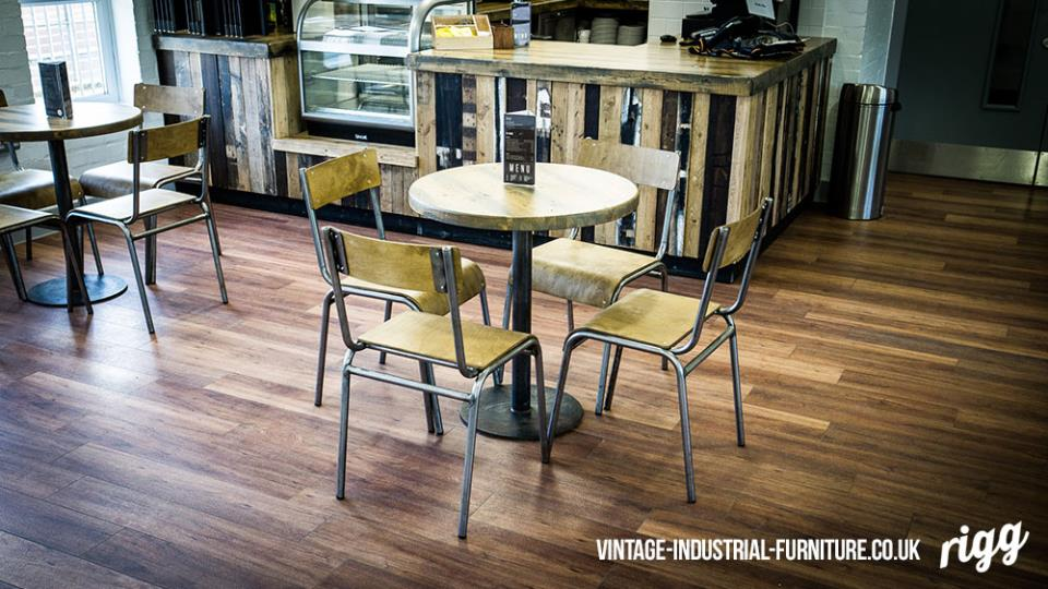 cafe table vintage industrial