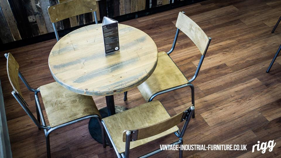 vitnage industrial bistro table and chairs