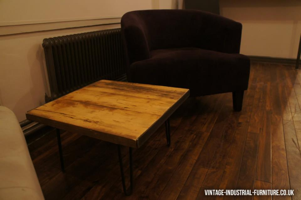Small Vintage Hairpin Leg Coffee Table