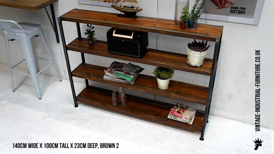 Industrial Metal Dark Wood Shelves