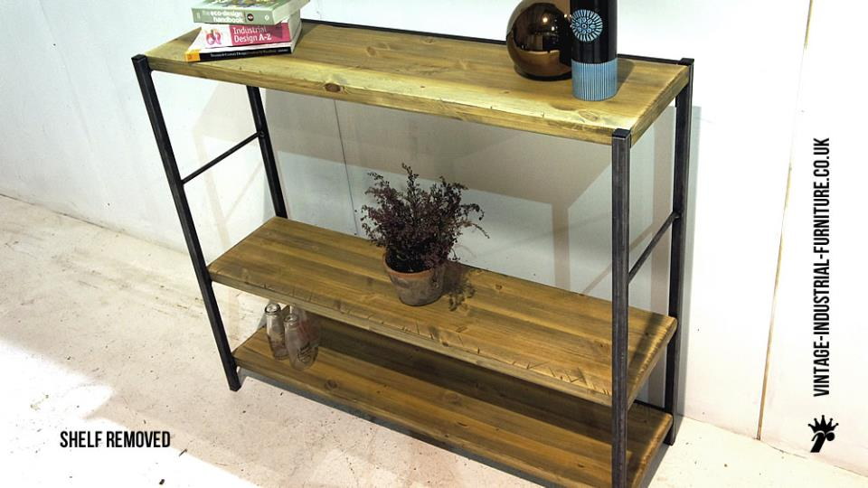 Industrial Vintage Wood Metal Shelves