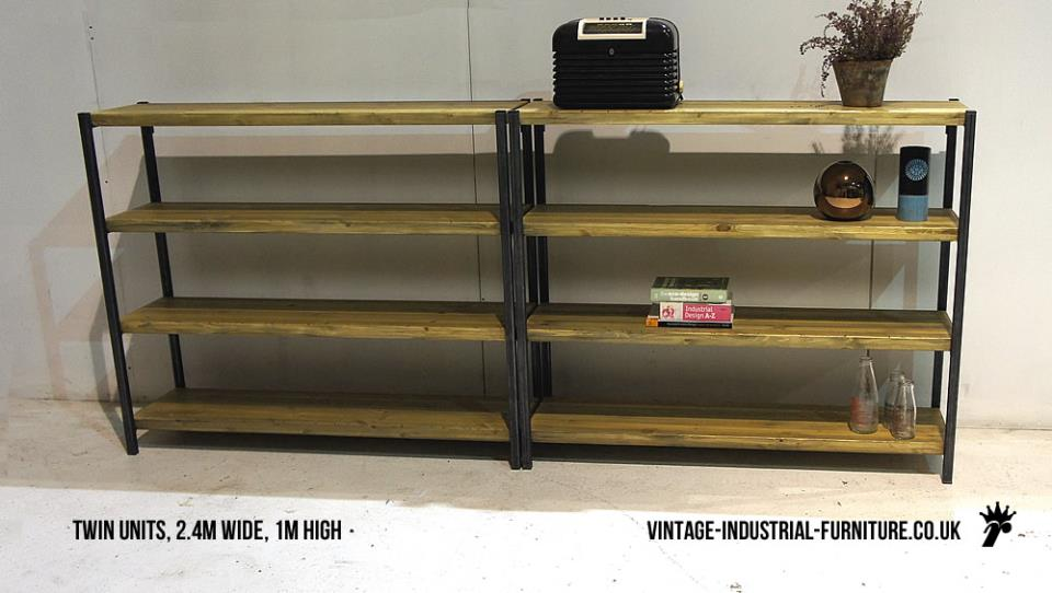 Vintage Industrial Style Shelving Unit