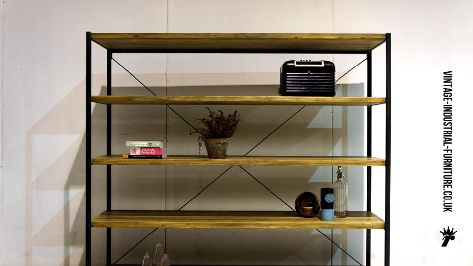 Wooden Vintage Industrial Shelves