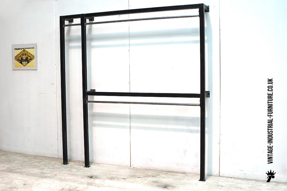 Vintage Industrial Clothes Rack