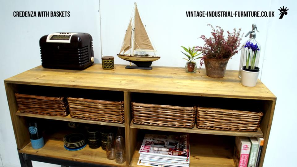 Credenza with Basket Drawers