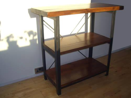 Vintage Industrial Work Table Shelves