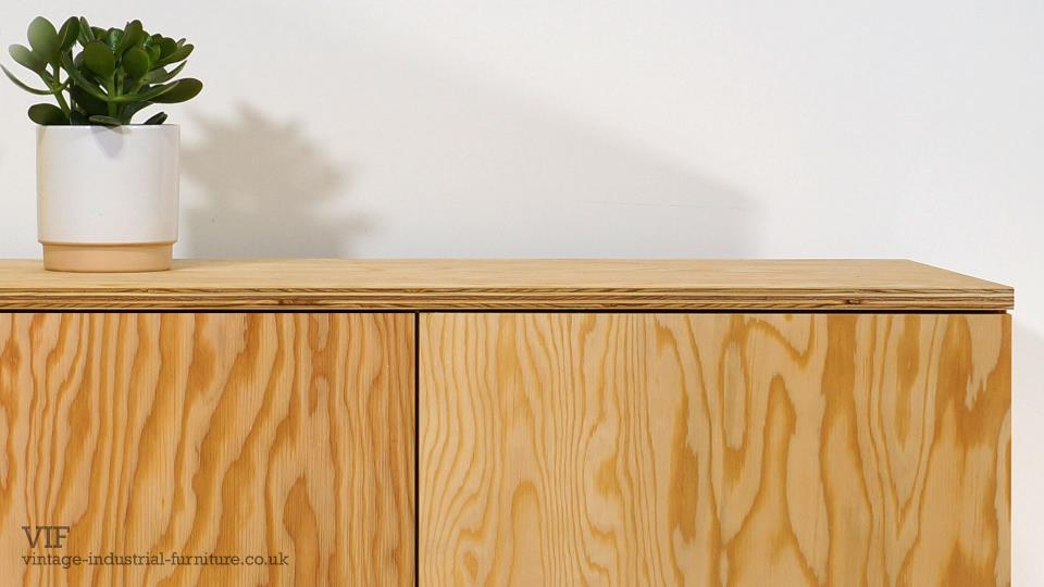 Douglas Fir Sideboard with Industrial Style Base