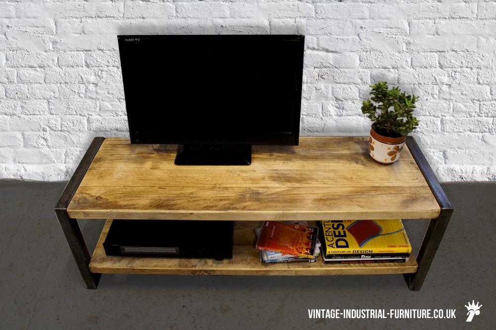 vintage industrial tv unit vif2. Black Bedroom Furniture Sets. Home Design Ideas