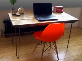 Vintage Industrial Desk, Hairpin Legs