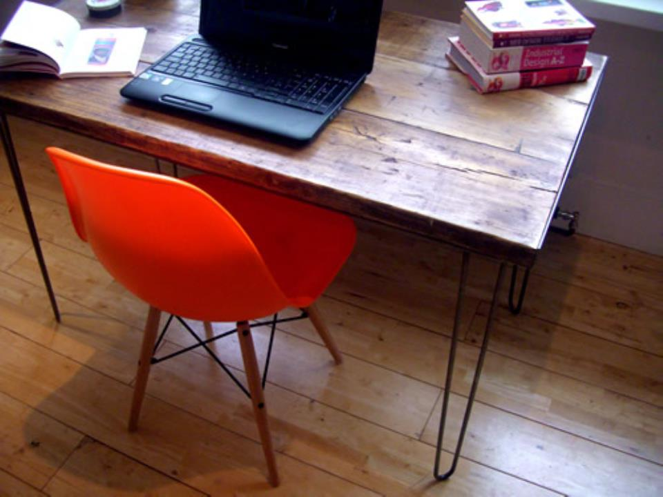 Vintage Desk Hairpin Legs