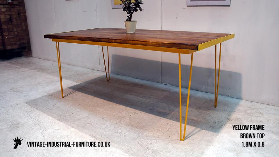 Yellow Hairpin Desk