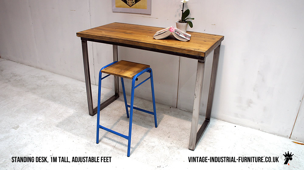 Cool Myra Vintage Industrial Modern Rustic Storage Desk By TRIBECCA HOME By