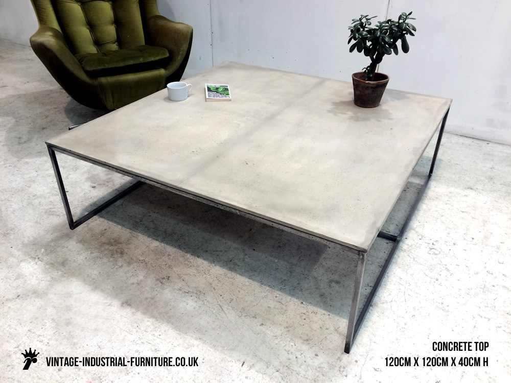 Coffee table large size coffee tables large modern coffee table buy - Concrete Coffee Table