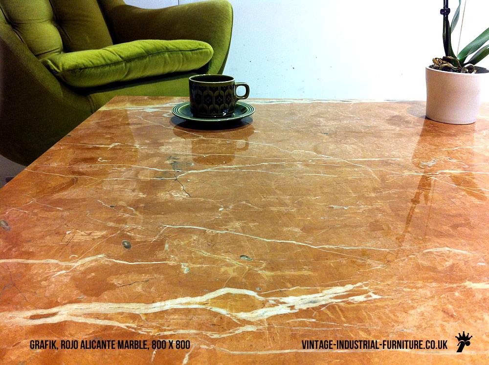 vintage industrial marble coffee table. Black Bedroom Furniture Sets. Home Design Ideas