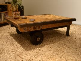 Industrial Factory Cart Coffee Table