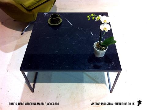 Vintage Industrial Marble Coffee Table