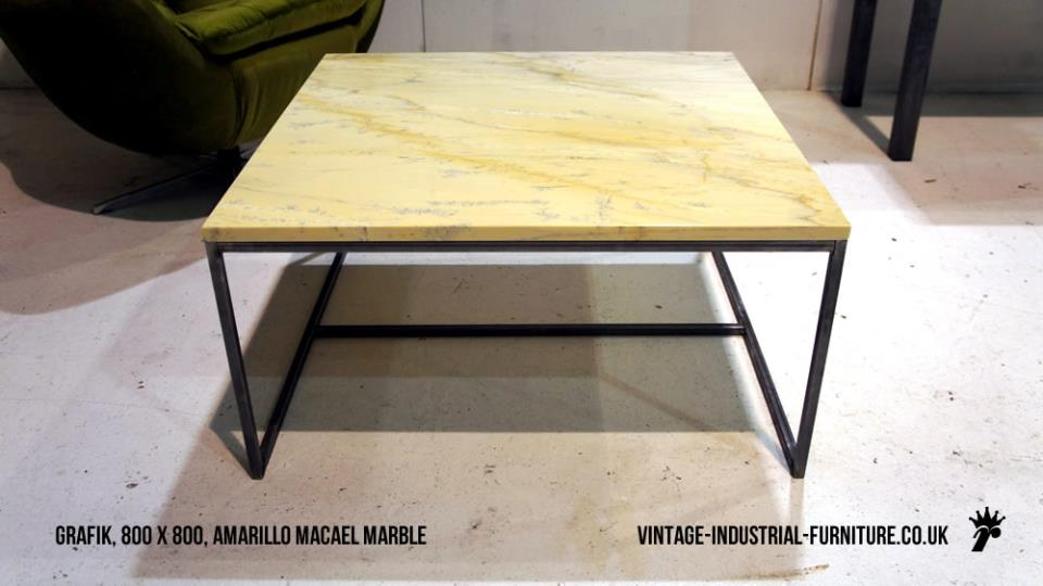 Amarillo Macael Marble Coffee Table