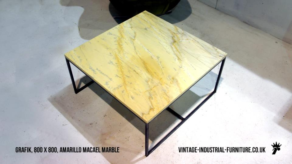 Amarillo Macael Vintage Marble Coffee Table