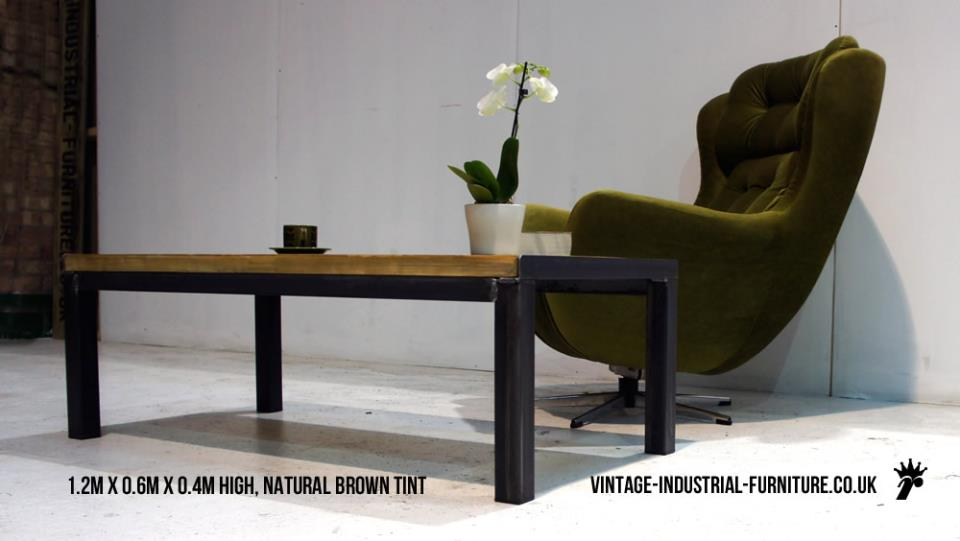 Chunky Vintage Industrial Style Coffee Table