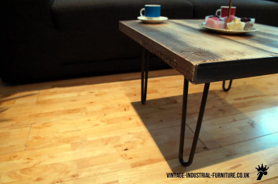 Industrial Hairpin Coffee Table