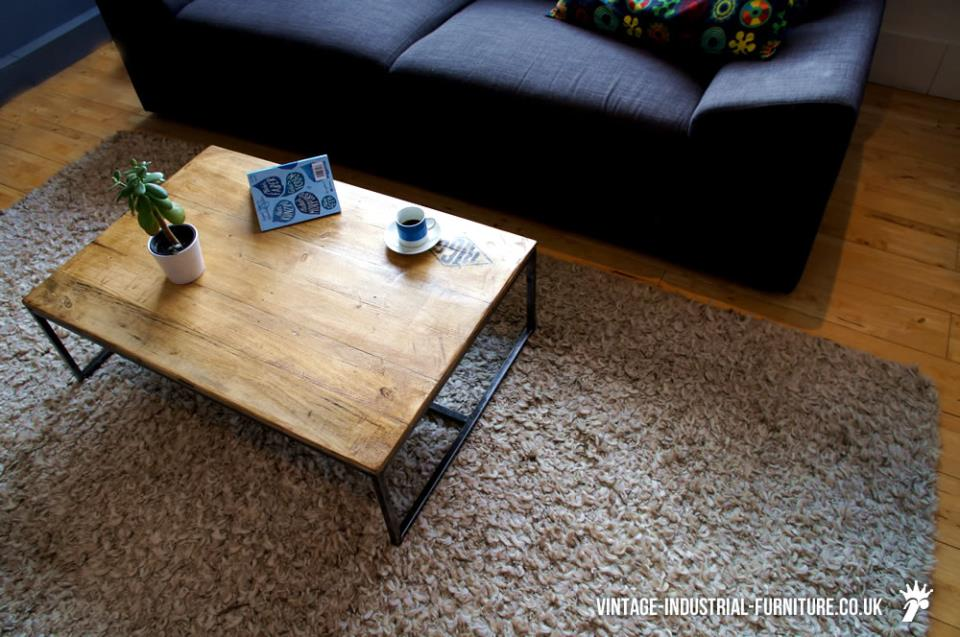 Industrial Style Tubular Coffee Table