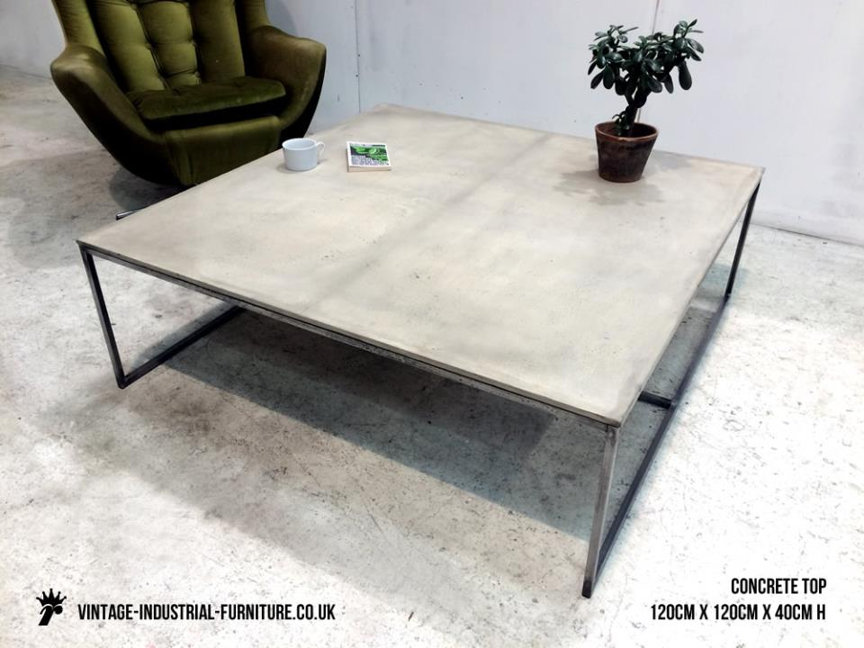 Large Concrete Coffee Table