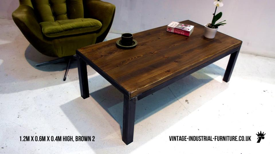 Industrial coffee table for Coffee tables 80cm wide