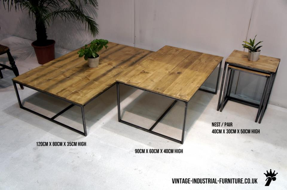 Steel Frame Industrial Coffee Table