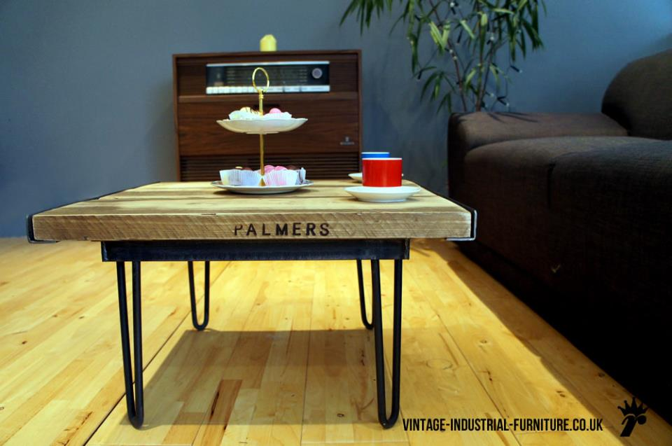 Vintage Industrial Hairpin Coffee Table
