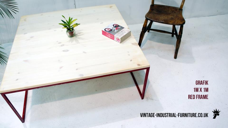 White-washed Coffee Table