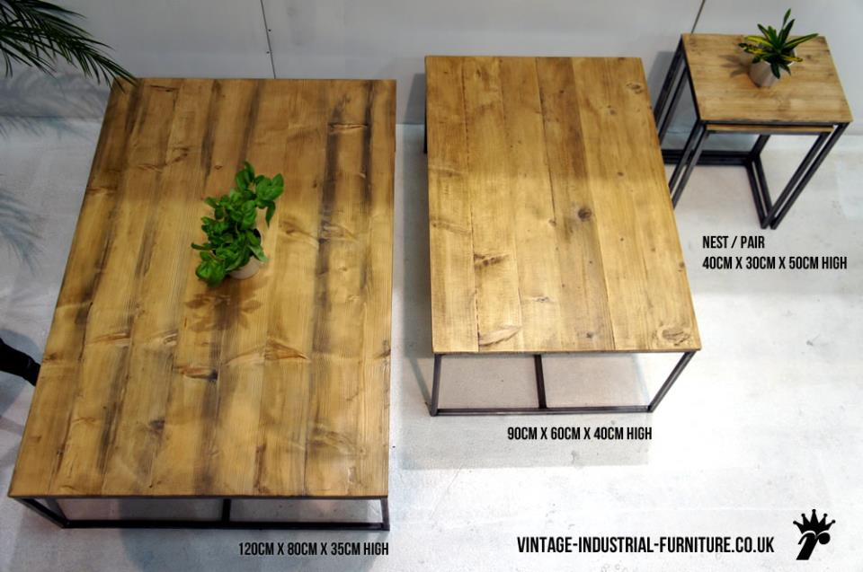 Wood & Steel Industrial Coffee Table