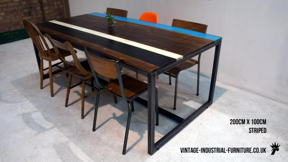 Box Frame Industrial Table