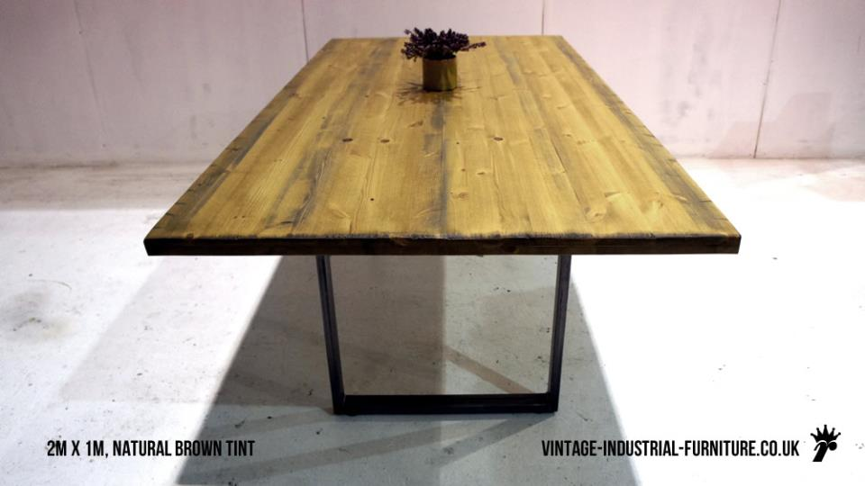 Industrial Metal Loop Leg Table