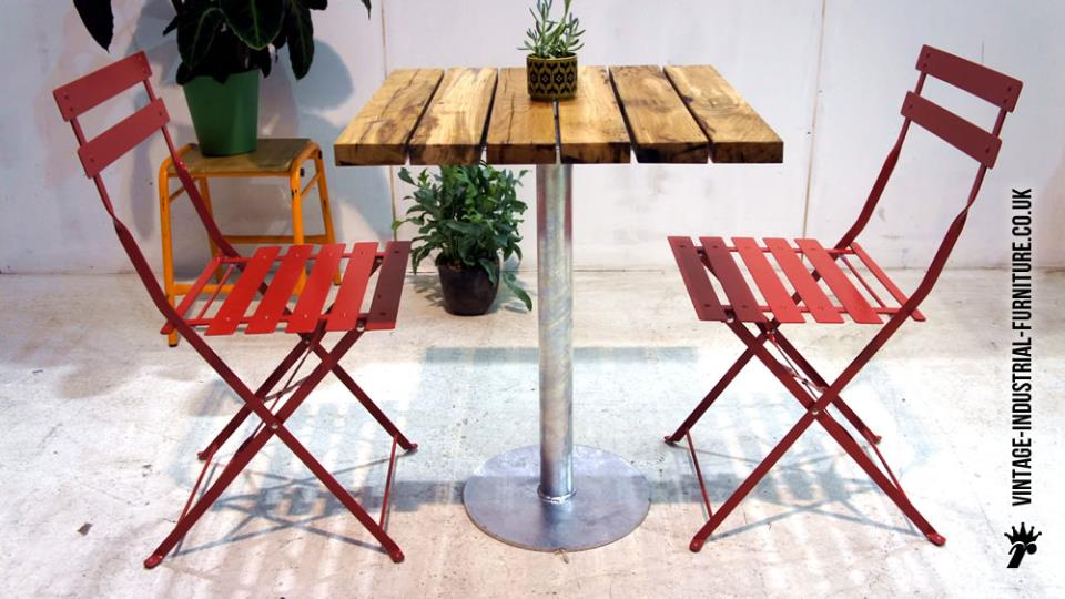 Industrial Outdoor Bistro Table