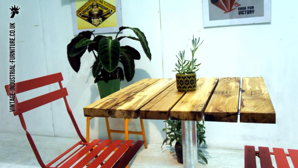 Industrial Outdoor Cafe Table