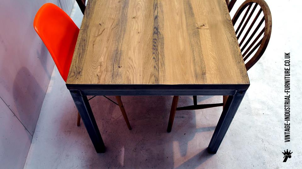 Industrial Vintage Rustic Oak Table