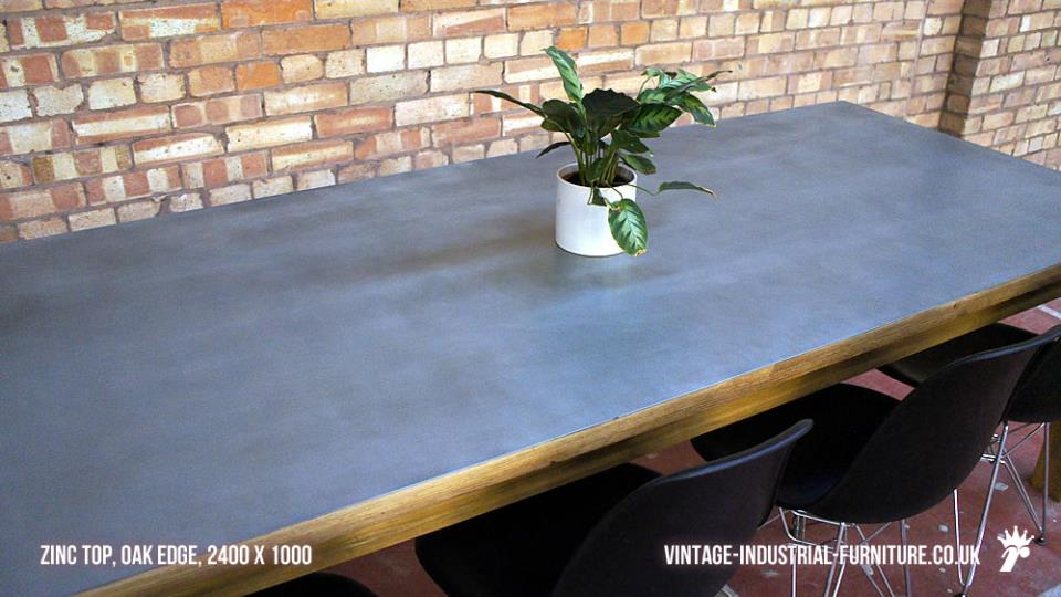 Industrial Zinc Dining Table