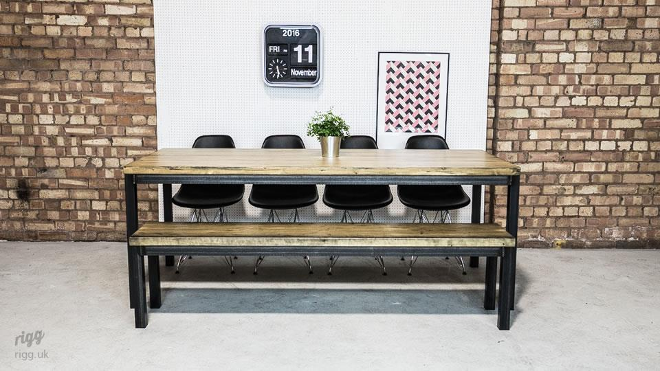 Large vintage industrial dining table